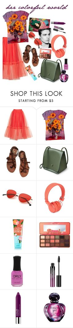 """""""but she only saw him in black and white"""" by elliewriter ❤ liked on Polyvore featuring Topshop, Scotch & Soda, Urbanears, Too Faced Cosmetics, Charlotte Russe, Clinique and Christian Dior"""