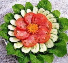 Оформление овощных закусок на праздничный стол | Самые вкусные кулинарные рецепты