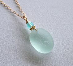 Sea glass necklace.  I loved this so much I bought it on Etsy.
