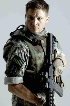 "Jeremy Renner as Sergeant First Class William James in the Oscar winning film ""The Hurt Locker"" for which he received his first Academy Award nomination in 2010"