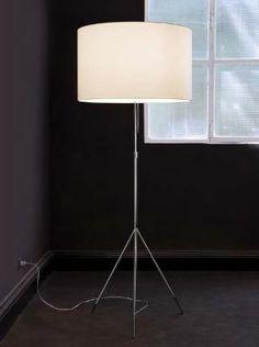 Foto Carpyen Signora L lámpara de Pie ø55cm blanco/pantalla blanca