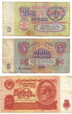 Soviet money.