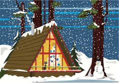 Retro Cat Christmas Cabin Snowfall - Boxed Holiday Christmas Greeting Cards - Set of 10 Cards and Envelopes Retro Ice Box Greetings,http://www.amazon.com/dp/B00DBF4SK4/ref=cm_sw_r_pi_dp_vrgSsb19NVGBG9E2