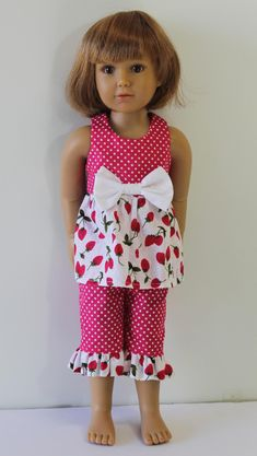 Baby Doll Top and Capris - Doll Clothes to fit Kidz n Cats doll and similar 18 inch dolls C61 by Debsterkay on Etsy https://www.etsy.com/listing/239303474/baby-doll-top-and-capris-doll-clothes-to