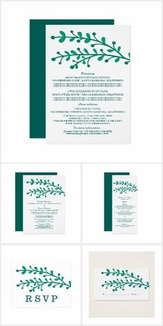 Simple Foliage Wedding Collection