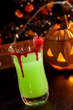 Witches Brew Cocktail - You will need:      1 1/2 ounces coconut tequila      2 ounces pineapple-orange juice      1/2 ounce Blue Curacao      maraschino cherry  Directions:  Shake ingredients well with ice.  Place a cherry into the bottom of a martini glass and pour the shaken drink in.