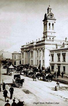 Chapel Street,Prahran,Victoria in around 1890.