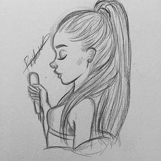 Girl Drawing Sketches, Girly Drawings, Art Drawings Sketches Simple, Pencil Art Drawings, Beautiful Drawings, Cartoon Drawings, Easy Drawings, Sketches Of Girls, Girl Face Drawing