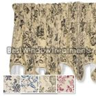 Palmer's Floral Toile Duchess Valance-Lined