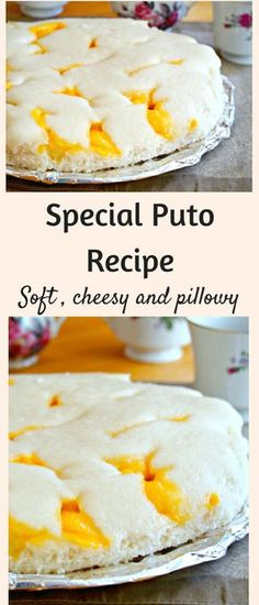 An easy recipe for a tasty and soft puto filled with cheese.