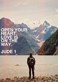 Open your heart. Love is on the way. Jude 1 #cdff #christianinspiration #christiandating #dating #onlinedating