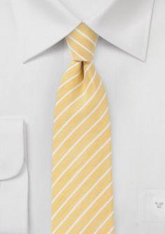 Trend-Kravatte goldgelb gesprenkelt Streifen