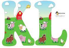 Alfabeto de la Granja. | Oh my Alfabetos! Farm Birthday, Animal Birthday, First Birthday Parties, First Birthdays, Alfabeto Animal, Barn Animals, Alice In Wonderland Party, Animal Alphabet, Art Clipart