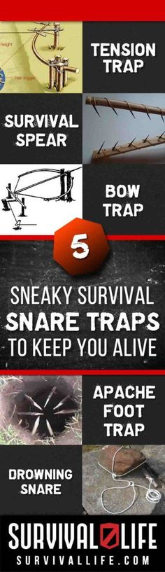 Learn to recreate these snare traps for use in survival scenarios, might just save you and your family's lives...