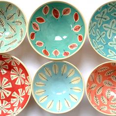 + cheery handmade ceramic bowls by Shop here: www.kleurin Bright + cheery handmade ceramic bowls by Shop here: www.Bright + cheery handmade ceramic bowls by Shop here: www. Pottery Bowls, Ceramic Pottery, Pottery Art, Pottery Painting Designs, Pottery Designs, Pottery Ideas, Ceramic Shop, Ceramic Bowls, Handmade Home