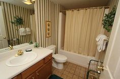 Condo 324-Spacious bathrooms in our condos at Whispering Pines. RPMCondos #WhisperingPines #PigeonForge #Memories #Family #GSMNP