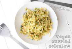 Need a fresh sandwich accompaniment? This Vegan Curried Coleslaw is ...