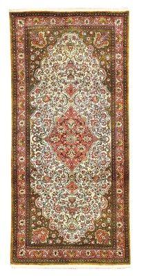 silk Qum rug   --175cm. x 81cm.(5ft.9in. x 3ft.8in.) I Christie's Sale 5755