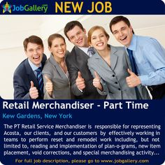 SEEKING A RETAIL MERCHANDISER - PART TIME IN KEW GARDENS, NEW YORK #Job #NewJob #Jobs #Trending #JobOpportunity  #jobgallery #parttimejobs #RetailJobs #Merchandise #KewGardensJobs #NewYorkJobs #kewgardens #NewYork