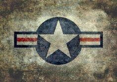 air star usaf american roundel symbol united states aviation force insignia retro grunge style