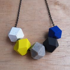 Granite Geo Pop Necklace