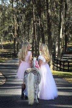 Pink Dresses, Boots & Miniature Horses
