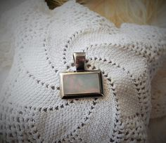 Sterling Silver .925 MOP Modernist Pendant by bijoullery on Etsy