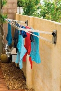 Hills Supa Fold Compact Folding Frame Washing Line – Pebble Beach Beige-NEW Wall Mounted Washing Line, Laundry Lines, Laundry Rack, Laundry Drying, Clothes Drying Racks, Clothes Dryer, Washing Clothes, Clothes Hanger, Laundry Room Inspiration