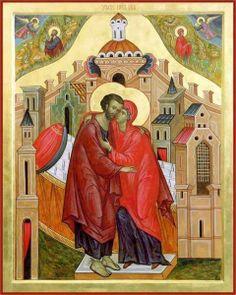 ΜΡ.ΘΥ__Αγ. Ιωακειμ & Αννα , γονεις της Θεοτοκου ( Ontmoeting van Joachim en Anna