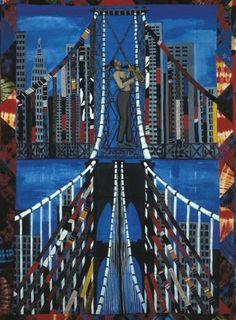 Faith Ringgold - Sonny's Quilt, 1986,  Acrylic on canvas with pieced fabric border