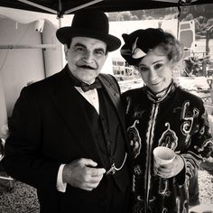 Partners in (solving) Crime. David Suchet as Hercule Poirot and Zoe Wanamaker as his friend, Ariadne Oliver.
