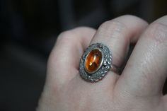 SALE... Vintage   Sterling Silver  Amber by 911VintageAddiction
