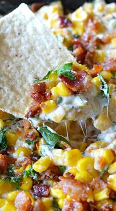 Cheesy Bacon Jalapeno Corn Dip – Host The Toast – Food recipes Think Food, I Love Food, Good Food, Yummy Food, Jalapeno Corn Dip, Hot Corn Dip, Jalapeno Poppers, Stuffed Jalapenos With Bacon, Party Dips