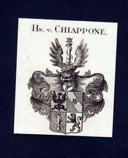 1780 - Herren v. Chiappone Heraldik Kupferstich Wappen