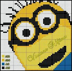 Despicable Me Minion perler bead pattern cross stitch