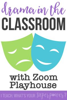 Drama in the Classroom Teach drama and spice up your readers' theater in upper grades with Zoom Playhouse. Drama Activities, Drama Games, Drama Teacher, Drama Class, Teaching Theatre, Teaching Art, Teaching Ideas, Drama Education, Dramas Online