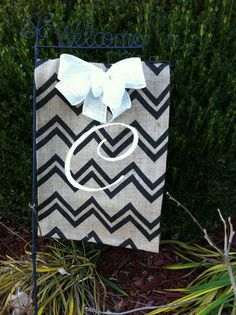 Custom Monogram Burlap Garden Flag by Jolliedays on Etsy, $17.00