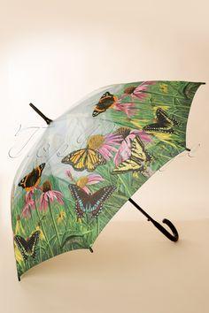 So Rainy - 50s Vintage Butterfly Mountain Umbrella