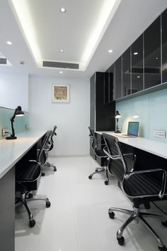 this luxurious and modern office cabin interior space for a