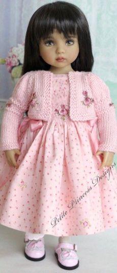 Pretty in Pink - Petite Princess Designs American Doll Clothes, Girl Doll Clothes, Doll Clothes Patterns, Girl Dolls, Baby Dolls, Pretty Dolls, Cute Dolls, Beautiful Dolls, Vestidos Chiffon