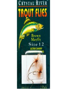 CRYSTAL RIVER FLY FISHING TROUT FLIES LURE BOX TWO SIZES TO CHOSE FROM