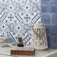 Merola Tile Atelier Azul Marais 5-7/8 in. x 5-7/8 in. Ceramic Floor and Wall Tile (5.73 sq. ft. / case)-FCVAAZMA - The Home Depot