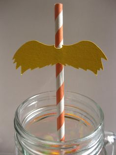 Kids can wear a Lorax mustache as they sip away during a Dr. Seuss-themed party!