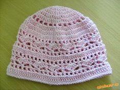 Jarní vzorečková čepka, česky Crochet For Kids, Free Crochet, Knit Crochet, Crochet Hats, Baby Hats Knitting, Knitted Hats, Knitting Patterns, Crochet Patterns, Crochet Diagram