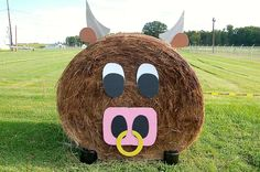 2013 Hay Bale Decorations, Young Farmers, Hay Bales, Trunk Or Treat, Scarecrows, Holidays And Events, Fall Halloween, Games For Kids, Halloween Decorations