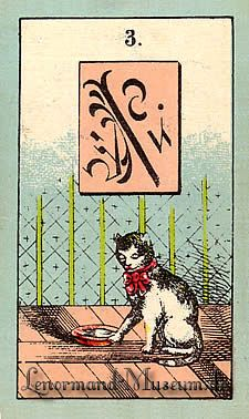 The Cat, by the Lenormand Fortune Telling Cards with mystic symbols