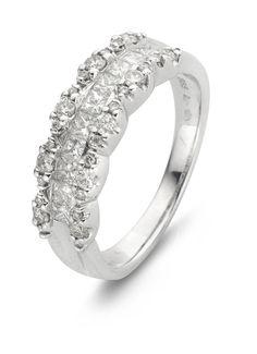 Pavé witgouden ring