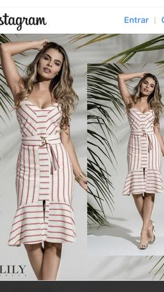 Vestidos Classy Outfits, Chic Outfits, Trendy Outfits, Short Dresses, Summer Dresses, Miss Dress, Cotton Dresses, Dress Patterns, Striped Dress