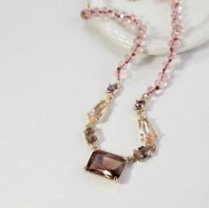 Czech Crystal Pink Beads Necklace DC55N6033 $16.50