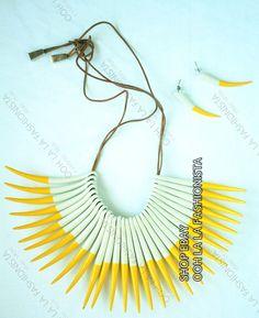 Brighten UP Sass Bide Neckpiece Chocker Earings SET Designer Necklace BAG | eBay